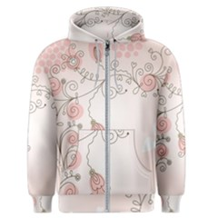 Simple Flower Polka Dots Pink Men s Zipper Hoodie