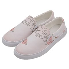 Simple Flower Polka Dots Pink Men s Canvas Slip Ons by Mariart
