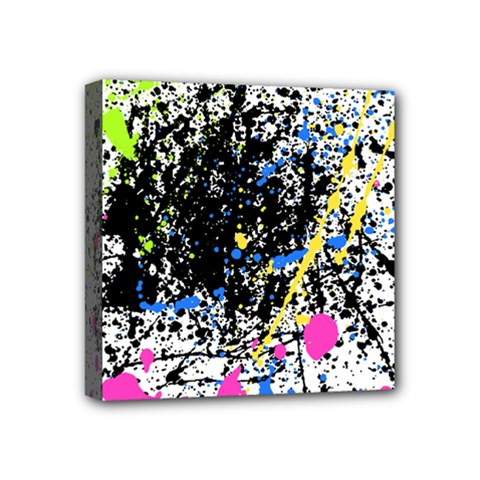Spot Paint Pink Black Green Yellow Blue Sexy Mini Canvas 4  X 4  by Mariart