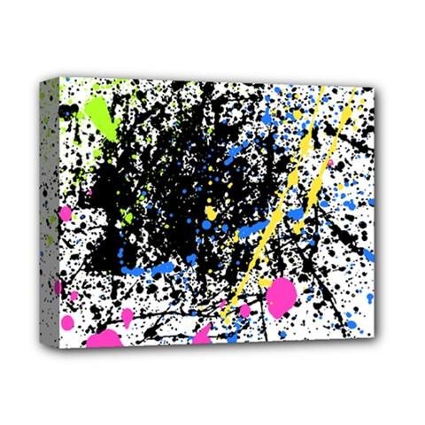Spot Paint Pink Black Green Yellow Blue Sexy Deluxe Canvas 14  X 11  by Mariart