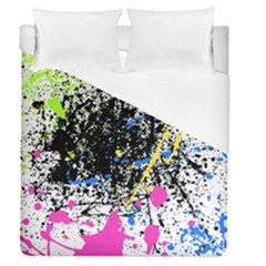 Spot Paint Pink Black Green Yellow Blue Sexy Duvet Cover (queen Size) by Mariart