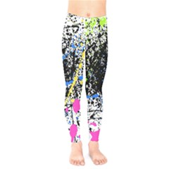Spot Paint Pink Black Green Yellow Blue Sexy Kids  Legging