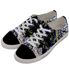 Spot Paint Pink Black Green Yellow Blue Sexy Women s Low Top Canvas Sneakers by Mariart