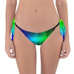 Space Galaxy Green Blue Black Spot Light Neon Rainbow Reversible Bikini Bottom by Mariart