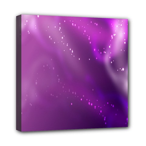 Space Star Planet Galaxy Purple Mini Canvas 8  X 8  by Mariart