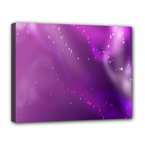 Space Star Planet Galaxy Purple Canvas 14  X 11  by Mariart