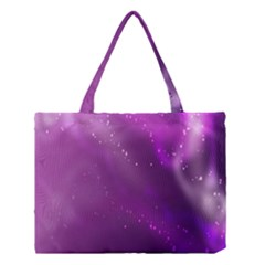Space Star Planet Galaxy Purple Medium Tote Bag by Mariart