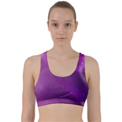 Space Star Planet Galaxy Purple Back Weave Sports Bra