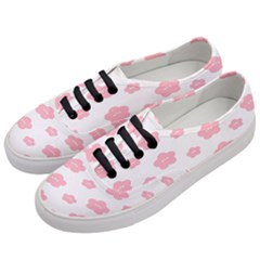 Star Pink Flower Polka Dots Women s Classic Low Top Sneakers by Mariart