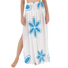 Star Flower Blue Maxi Chiffon Tie Up Sarong