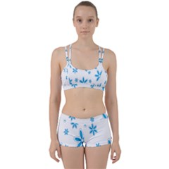 Star Flower Blue Women s Sports Set by Mariart