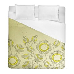 Sunflower Fly Flower Floral Duvet Cover (full/ Double Size) by Mariart
