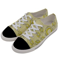 Sunflower Fly Flower Floral Women s Low Top Canvas Sneakers by Mariart