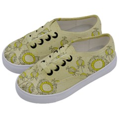 Sunflower Fly Flower Floral Kids  Classic Low Top Sneakers by Mariart