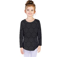 Skin Abstract Wallpaper Dump Black Flower  Wave Chevron Kids  Long Sleeve Tee by Mariart