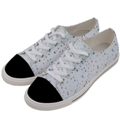 Spot Polka Dots Blue Pink Sexy Women s Low Top Canvas Sneakers by Mariart