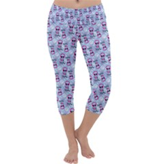 Pattern Kitty Headphones  Capri Yoga Leggings by iCreate