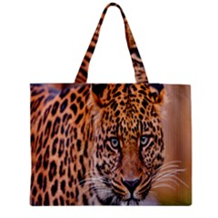 Tiger Beetle Lion Tiger Animals Leopard Medium Tote Bag by Mariart