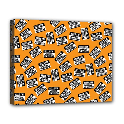Pattern Halloween Wearing Costume Icreate Deluxe Canvas 20  X 16   by iCreate
