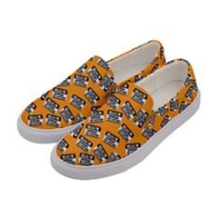 Pattern Halloween  Women s Canvas Slip Ons by iCreate