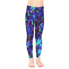 Dark Neon Stuff Blue Red Black Rainbow Light Kids  Legging by Mariart