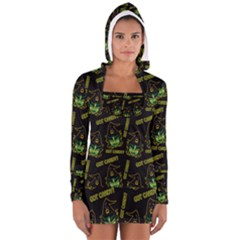 Pattern Halloween Witch Got Candy? Icreate Long Sleeve Hooded T Shirt by iCreate