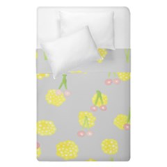 Cute Fruit Cerry Yellow Green Pink Duvet Cover Double Side (single Size)