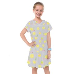 Cute Fruit Cerry Yellow Green Pink Kids  Drop Waist Dress