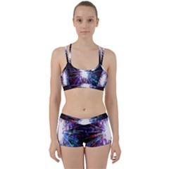 Seamless Animation Of Abstract Colorful Laser Light And Fireworks Rainbow Women s Sports Set