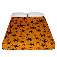 Pattern Halloween Black Spider Icreate Fitted Sheet (california King Size) by iCreate