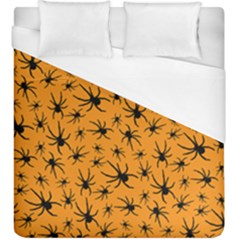 Pattern Halloween Black Spider Icreate Duvet Cover (king Size) by iCreate