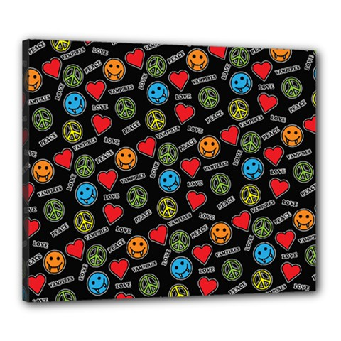 Pattern Halloween Peacelovevampires  Icreate Canvas 24  X 20  by iCreate