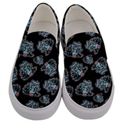 Pattern Halloween Zombies Brains Men s Canvas Slip Ons