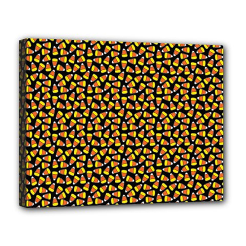 Pattern Halloween Candy Corn   Canvas 14  X 11  by iCreate