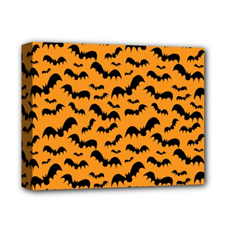 Pattern Halloween Bats  Icreate Deluxe Canvas 14  X 11  by iCreate