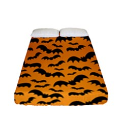 Pattern Halloween Bats  Icreate Fitted Sheet (full/ Double Size) by iCreate