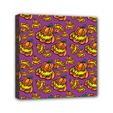 1pattern Halloween Colorfuljack Icreate Mini Canvas 6  X 6  by iCreate