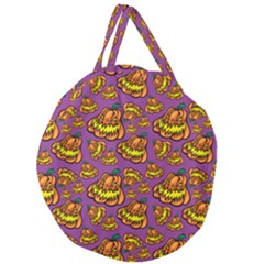 1pattern Halloween Colorfuljack Icreate Giant Round Zipper Tote by iCreate