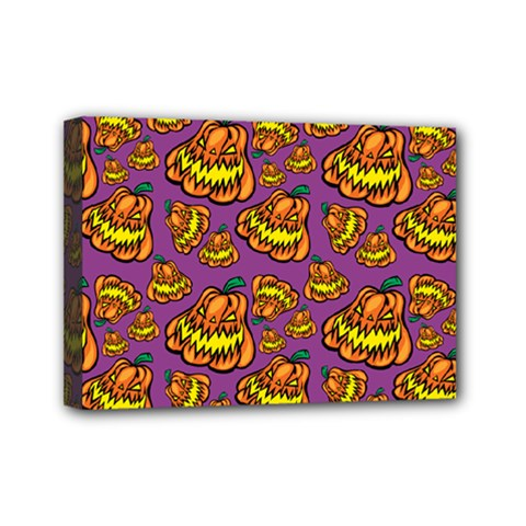 Halloween Colorful Jackolanterns  Mini Canvas 7  X 5  by iCreate