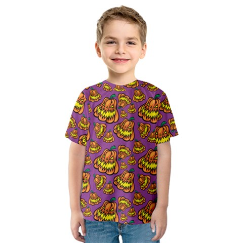 Halloween Colorful Jackolanterns  Kids  Sport Mesh Tee by iCreate