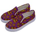 Halloween Colorful Jackolanterns  Kids  Canvas Slip Ons View2