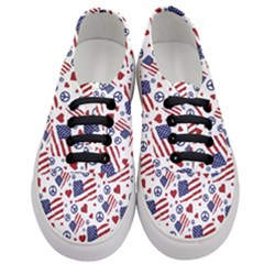 Peace Love America Icreate Women s Classic Low Top Sneakers