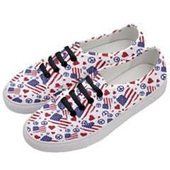 Peace Love America Icreate Women s Classic Low Top Sneakers by iCreate