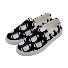 Footballs Icreate Women s Canvas Slip Ons by iCreate