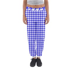 Friendly Houndstooth Pattern,blue Women s Jogger Sweatpants