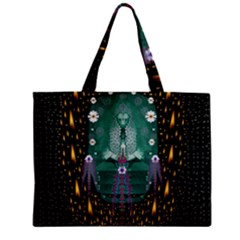 Temple Of Yoga In Light Peace And Human Namaste Style Zipper Mini Tote Bag by pepitasart