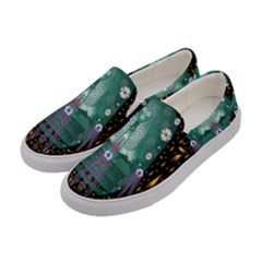 Temple Of Yoga In Light Peace And Human Namaste Style Women s Canvas Slip Ons by pepitasart