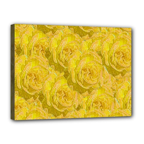 Summer Yellow Roses Dancing In The Season Canvas 16  X 12  by pepitasart