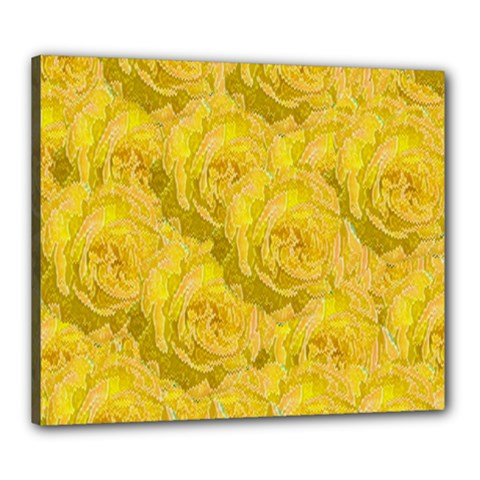 Summer Yellow Roses Dancing In The Season Canvas 24  X 20  by pepitasart