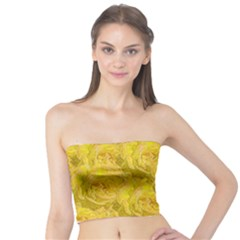 Summer Yellow Roses Dancing In The Season Tube Top by pepitasart